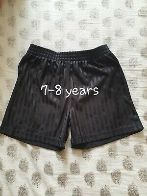 Boys Girls School PE Shorts Black Age 7-8 Years