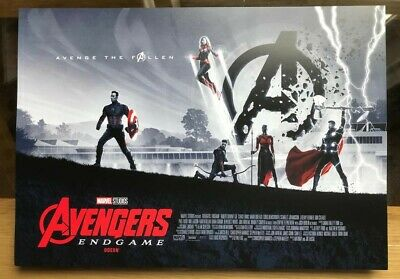 Avengers Endgame Odeon promotional poster A3 FN condition