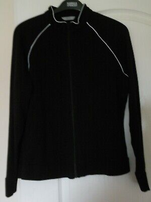 Marks and Spencer – Black/White – Zipped Sport/Activewear Top/Jacket – Size 16
