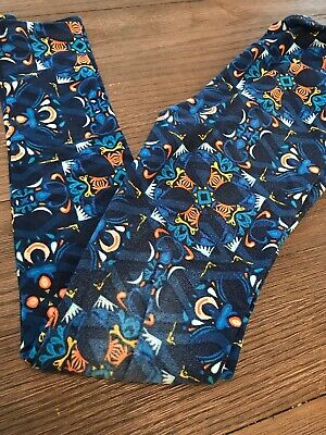 lularoe tween leggings Multi Color Blue Some Fading
