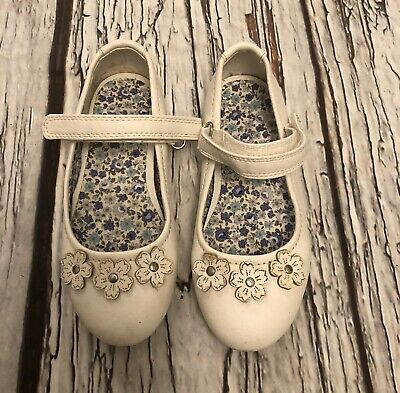 Girls Next Infant Size 9 White Mary Jane Shoes Worn Once
