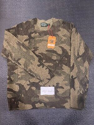 NWT Rare Polo Ralph Lauren Country Mens Fisherman Camo Sweater XL