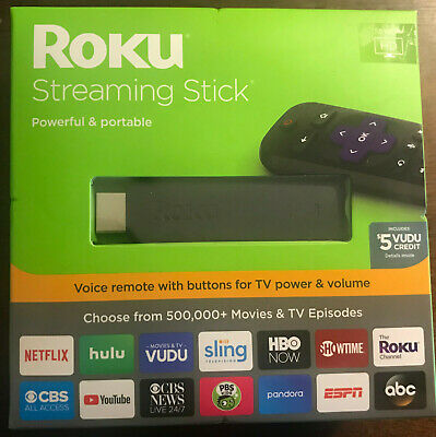 New Roku Streaming Stick (6th Gen) 3800RW VUDU Edition 1080p HD W/ Voice Remote