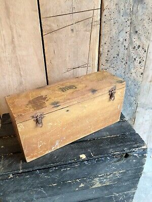 Vintage Small  Wooen Tool Instrument Box Case