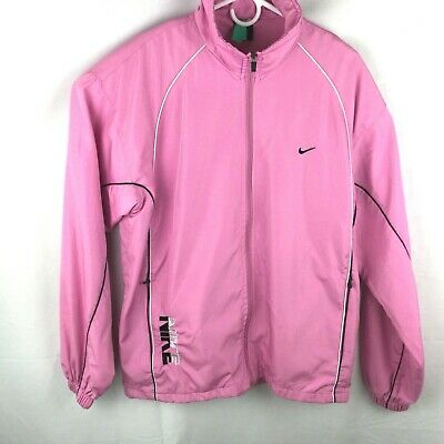 Nike Womens  XXL Pink Vented Zipper Jacket Vintage Made in USA