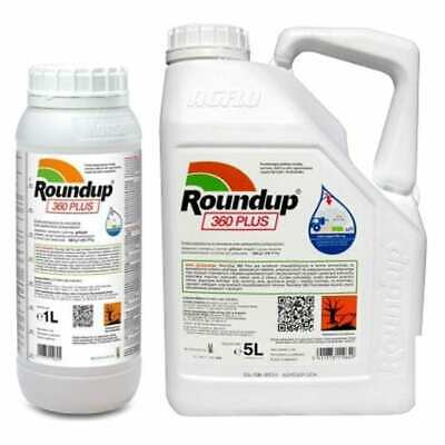 Roundup 360 PLUS Monsanto Strong Weed Killer 1L 5L 20L