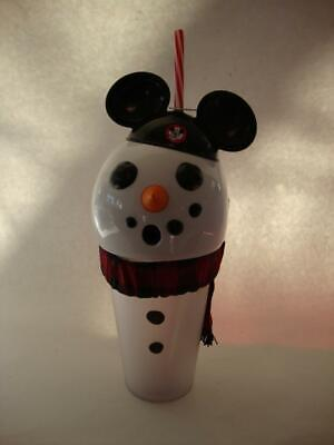 Disney Parks Christmas Holiday 2019 Snowman Light Up Tumbler Mickey Mouseketeer
