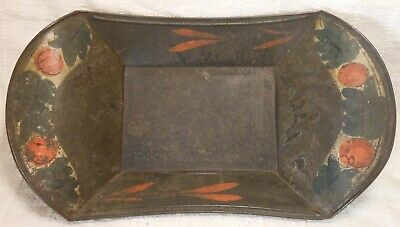 Good American Antique Toleware Tin Bread Tray,  Paint Decorated