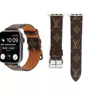 Louis Vuitton LV Apple Watch Strap Wrist Band For Iwatch 4/3 Leather 38/40 42/44