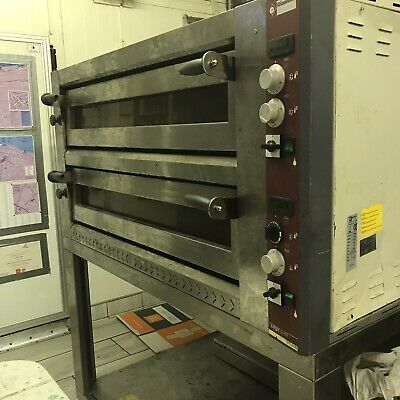 "Commercial Pizza Oven Double Deck Electric single phase Stone Base 8x16"" 3 Phase"
