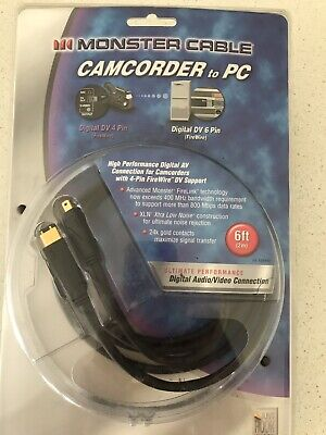 Monster Cable Camcorder to PC - Brand New