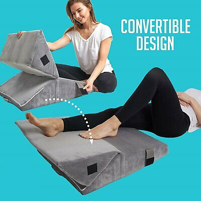 Two Adjustable Memory Foam Wedge Pillows