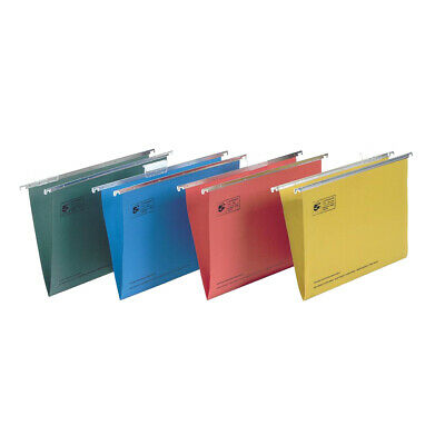 200 Foolscap Suspension Office Stationery Hanging Files GREEN © 296913