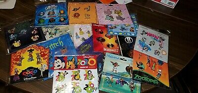 Disney Trading Pins 4 Booster Packs AUTHENTIC Pins FREE SHIP
