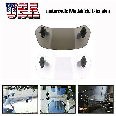 Adjustable Clip On Windshield Extension Wind Deflector Universal  For Motorcycle