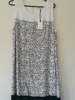 Jeans West Black & White Shift Dress Womens Size 12