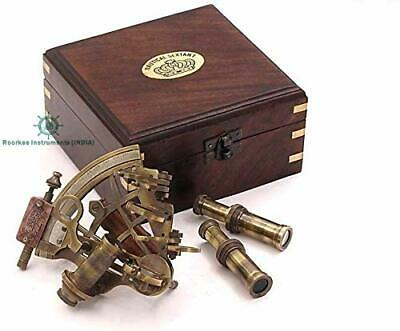 Navigation Sextant J.Scott London w/Hardwood Box/Astrolabe/Mariner's Sextant