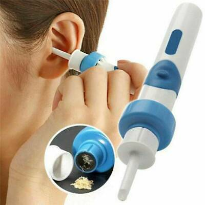 Safety Painless Electric Cordless Vacuum Ear Cleaner Wax Remover Cleaning Tool ~