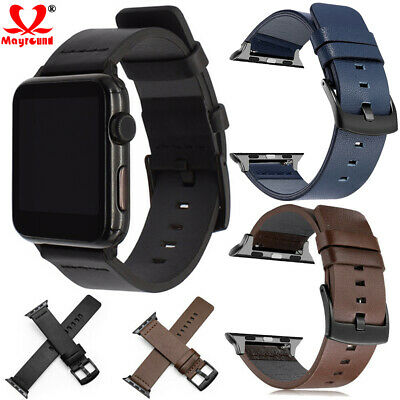 Genuine Leather Watch Band Strap For Apple iWatch Series 5 4 3 38/42mm 40/44mm