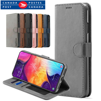 For Samsung Galaxy A20 A30 A50 A70 Magnetic Flip Leather Stand Card Wallet Case