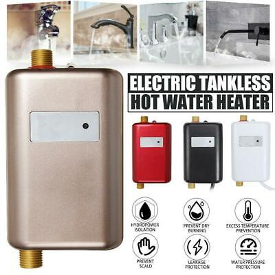 220V 3000W Instant Electric Water Heater Tankless Shower Hot Water Tap Bathroom