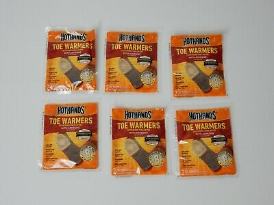 Hothands Feet Toe Warmers With Adhesive Heat - 6 PAIRS (12 Individual)  EXP 7/23