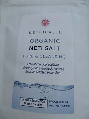 Fine Organic Certified Neti Salt - for use with Neti pots - FREE measuring scoop
