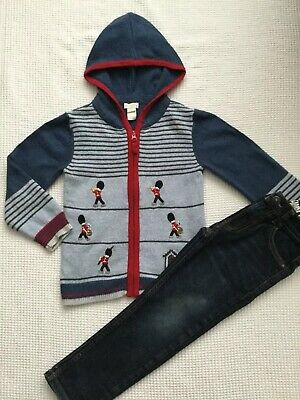 Monsoon, Tu Boys 5-6 Years Outfit Jeans, Soldier Cardigan Combined Post