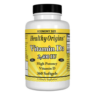 Healthy Origins Vitamin D-3 2400iu 360 softgels - Vitamina D-3