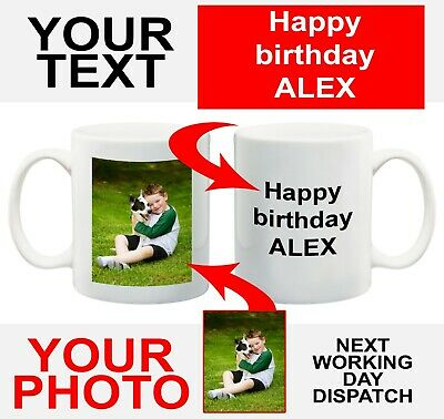 Personalised Photo Mug Cup Custom Printed With You're Picture & text or LOGO