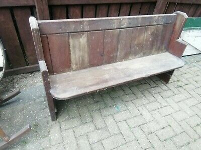 Distressed/original solid Victorian Pine Church Chapel Pew