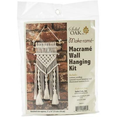 Birch MACRAME Wall Hanging Kit TASSELS & TWISTS 13x36cm MWHS016 Knotting/Weaving