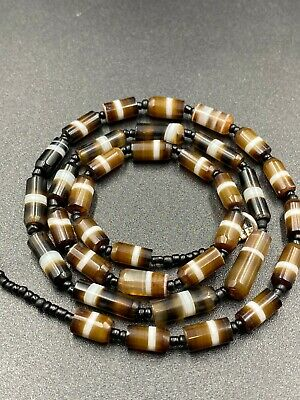 APHRODITE- ANCIENT WESTERN aSIATIC bANDED aGATE aND sTONE bEADS nECKLACE