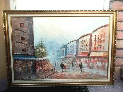 Antique French Oil Painting ,,,,Caroline Burnett