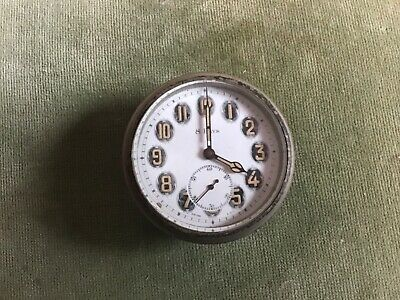 Antique Swiss Made Car Travelling Clock Octo Non Magnetic