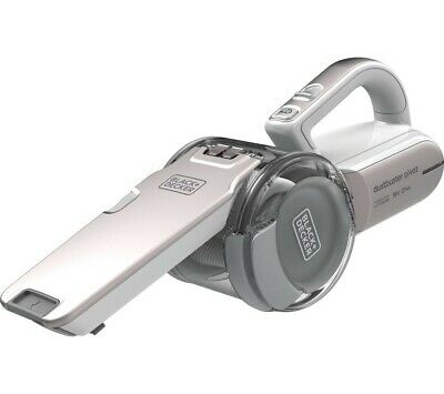 Broken BLACK+DECKER 18 V Lithium-Ion Compact Pivot Vacuum, white and grey