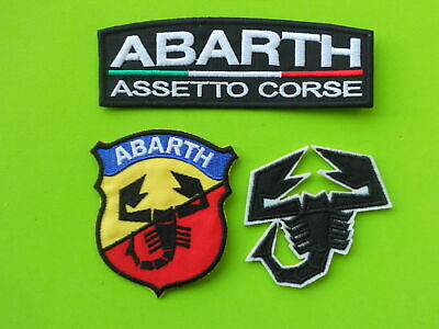 Patch Abarth  Assetto Corse Pz 3 Ricamate Termoadesive -Replica