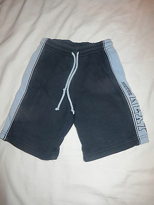 boys boy navy & pale blue shorts age 3 years next elasticated waist
