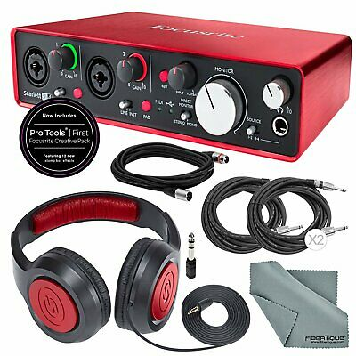 Focusrite Scarlett 2i4 USB Audio Interface (2nd Generation) and Deluxe Accessory