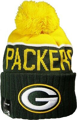 Green Bay Packers Beanie Knit Hat Cap New Era NFL Apparel Officially Licensed