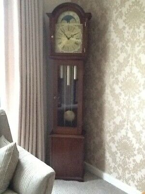Grandmother Clock in Mahogany, Fenlocks Pembroke model with Chimes.