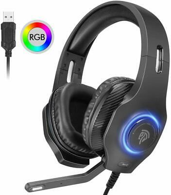 EasySMX USB Gaming Headset, PC Headset, 7.1 Surround Sound Stereo