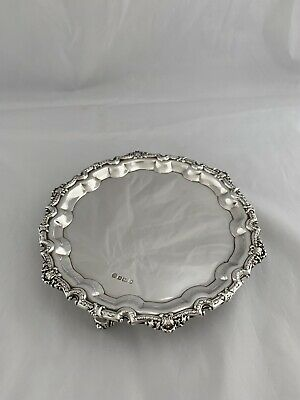 Small Solid Silver Drinks Tray 1991 Sheffield Francis Howard 2 GLASS SIZE