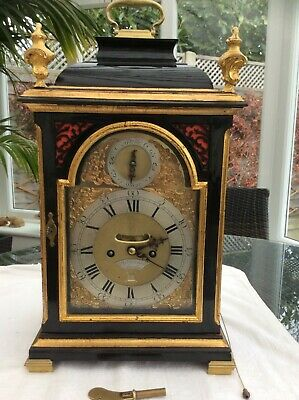 English bracket clock Stephen Rimbault double fusee pull repeat 6 bells verge