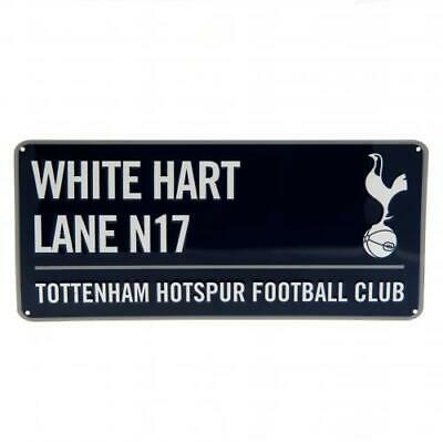 Tottenham Hotspur Spurs F C Official Crested Metal Street Sign White Hart Lane