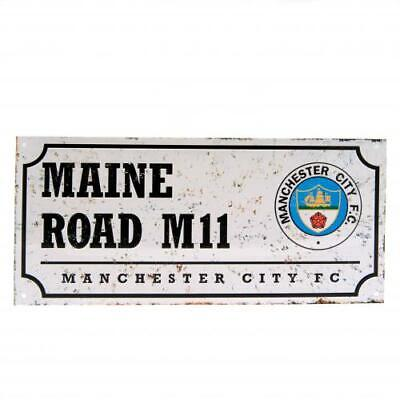 Manchester City Man City F C Official Crested Metal Street Sign Maine Road retro