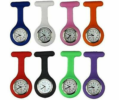 Silicone Nurse Watch Brooch Tunic Fob Nursing Nurses Pendant Pocket Watches M1
