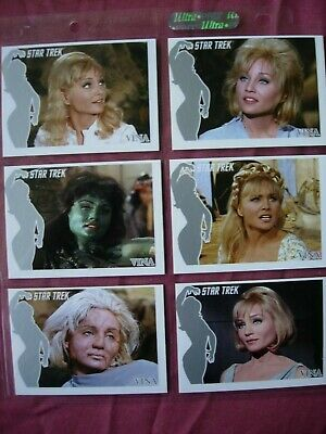 Star Trek TOS 40th Anniversary X6 Vina Chase cards Rittenhouse 2006 VFN