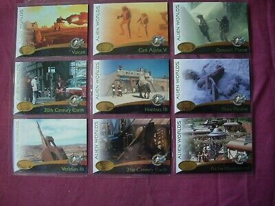 Star Trek: Cinema 2000 X9 Alien Worlds Chase cards Skybox 2000 FN/VFN