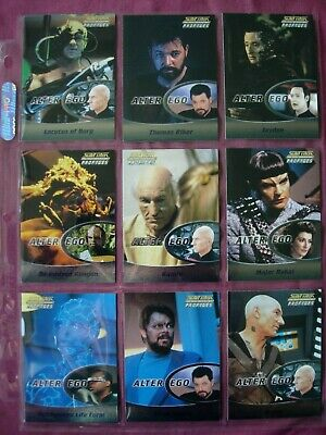 Star Trek Next Generation Profiles X9 Alter Ego Chase cards Rittenhouse 2000